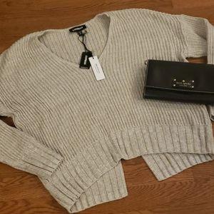 NWT Express Split Bottom Sweater